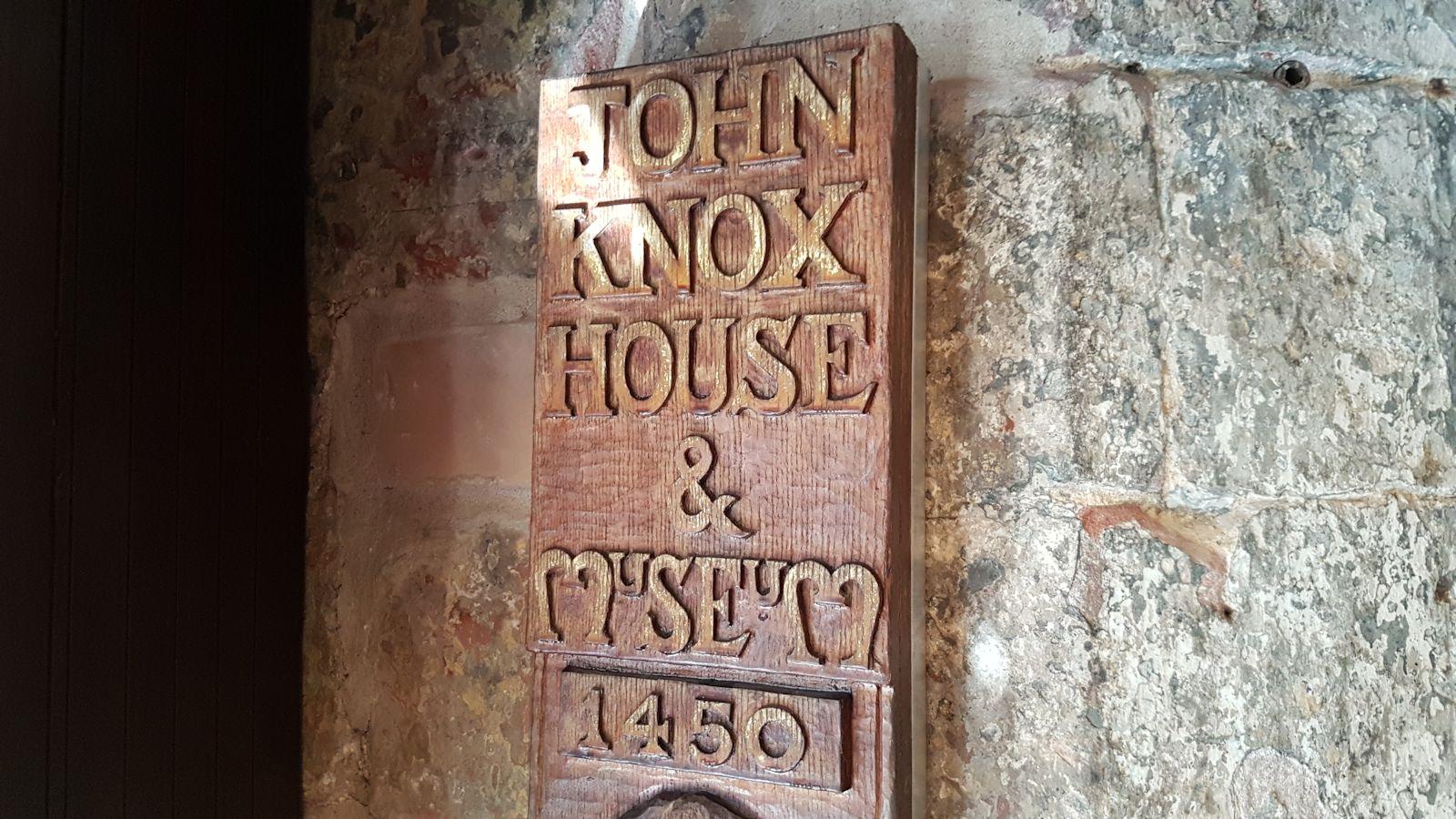 John Knox House Plaque
