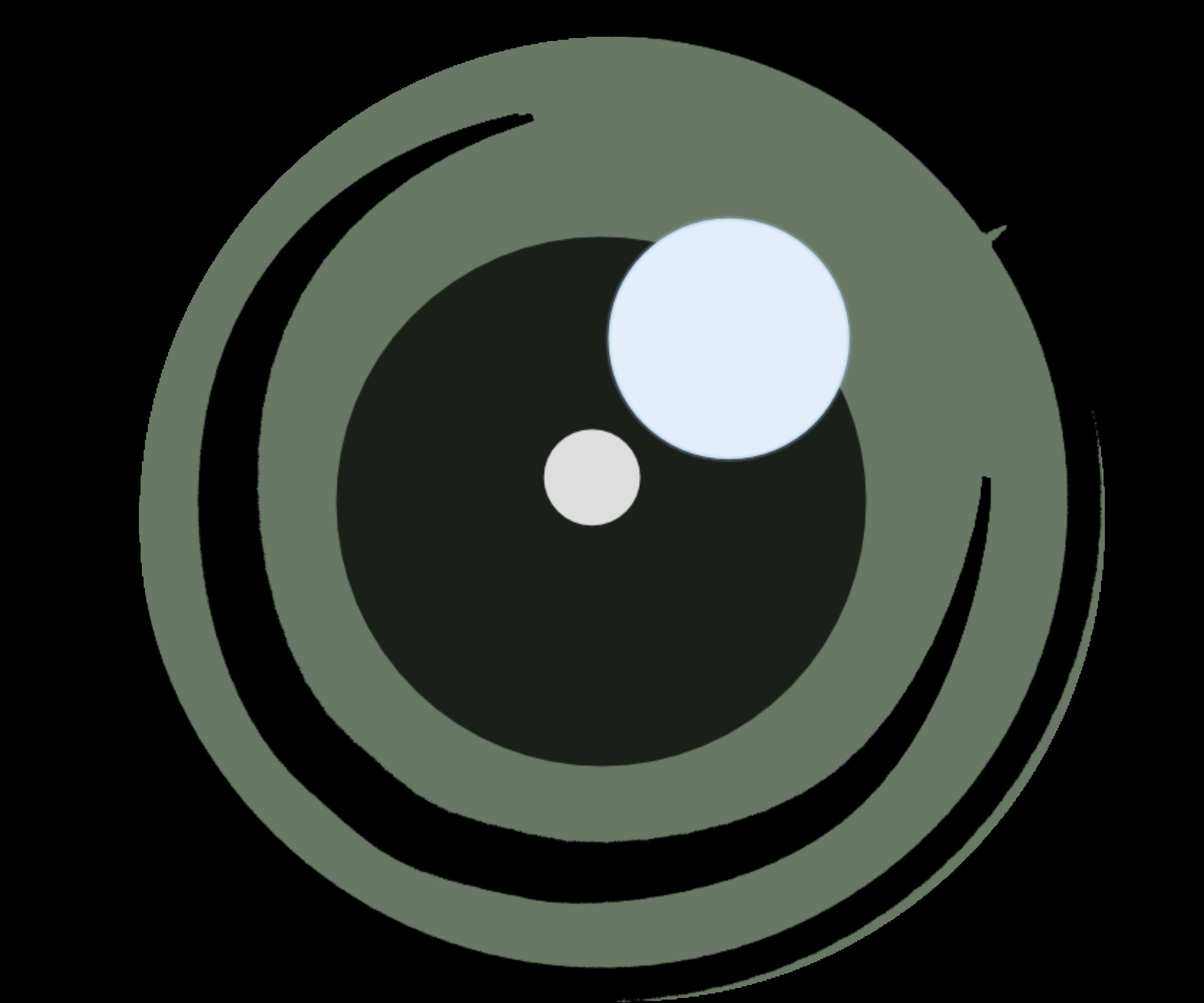 """Tekening van een lens als symbool voor """"focus versterken"""""""
