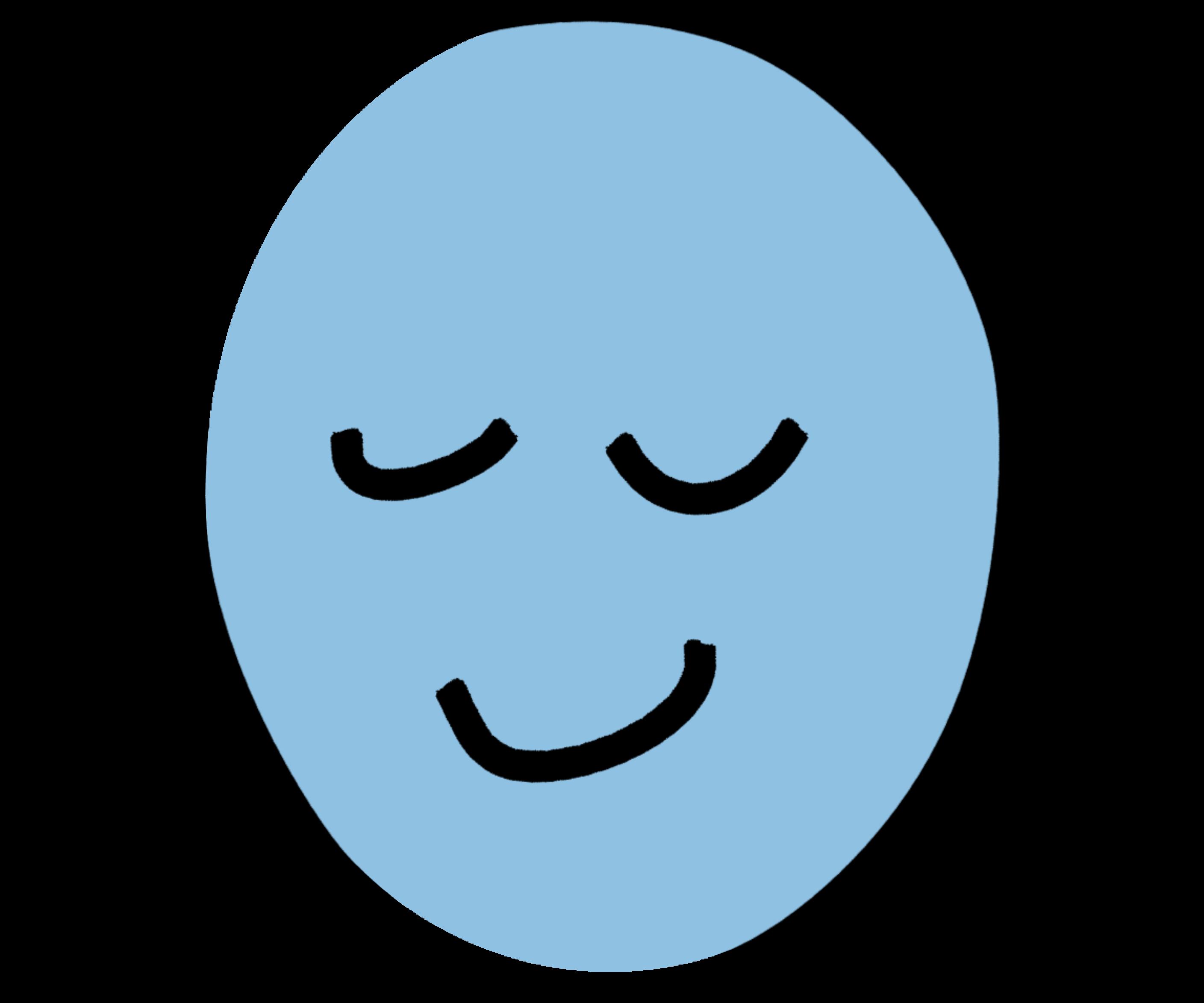 """Tekening van een rustgevend hoofd als symbool voor """"relax & refresh"""""""