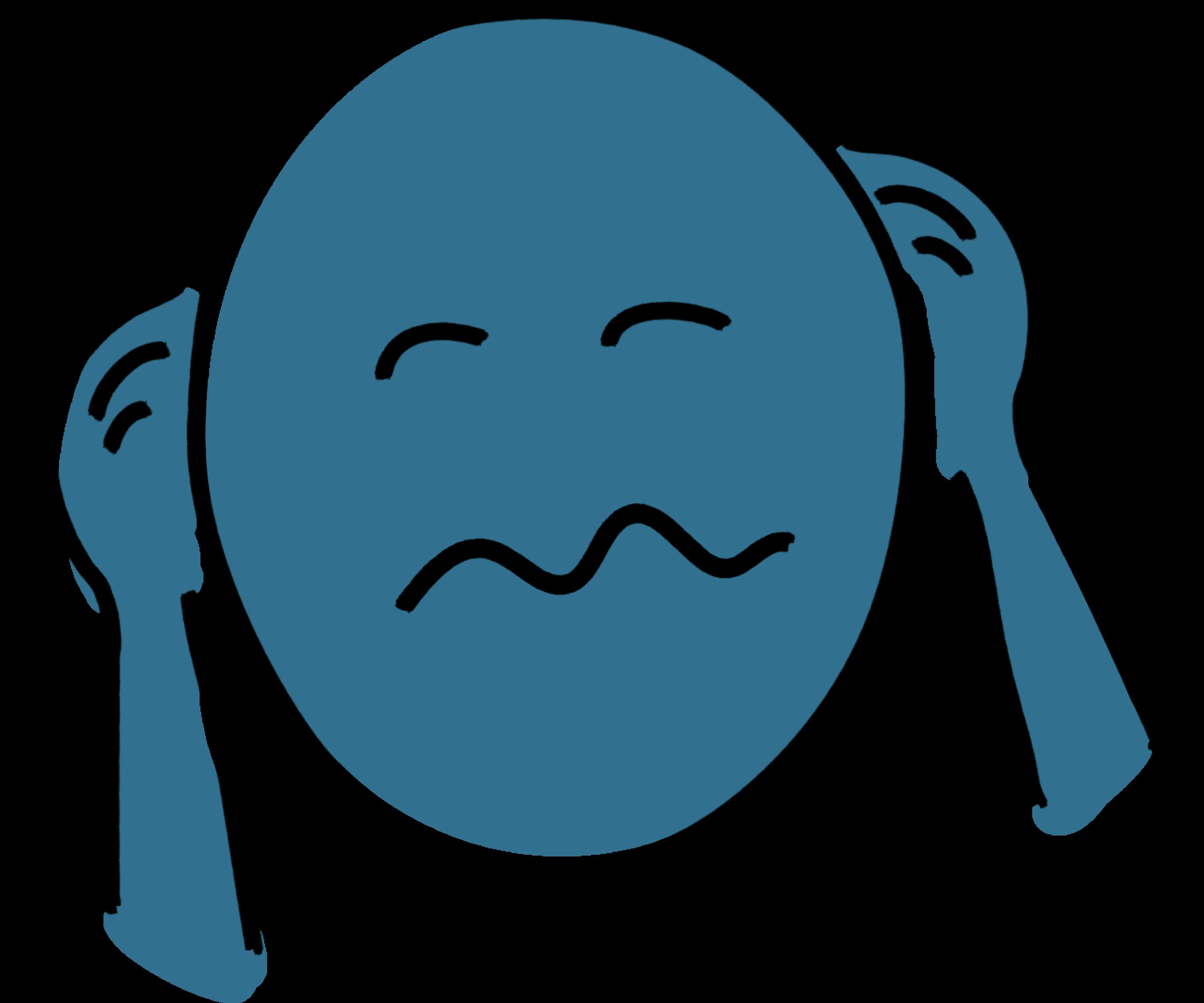 """Tekening van een gestresseerd hoofd als symbool voor """"omgaan met stress"""""""