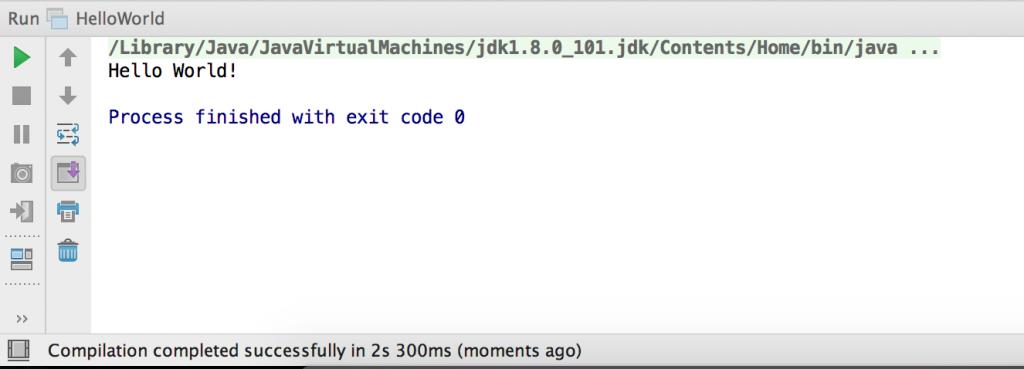 Print program Java IntelliJ