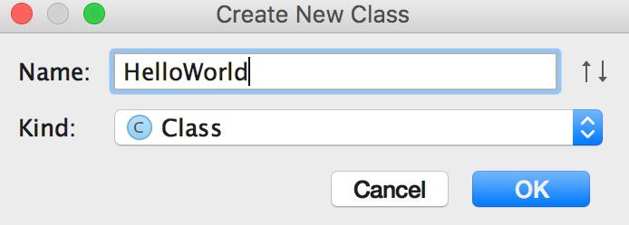 Create new class Java