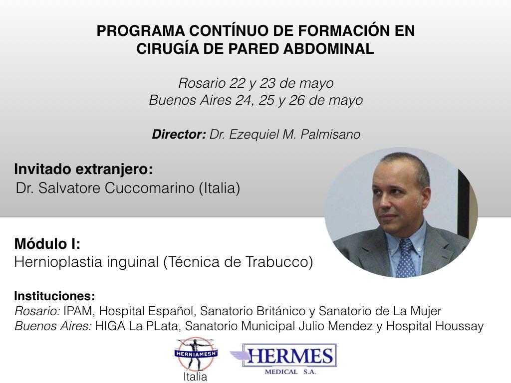 Ernia inguinale e tecnica di Trabucco in Argentina