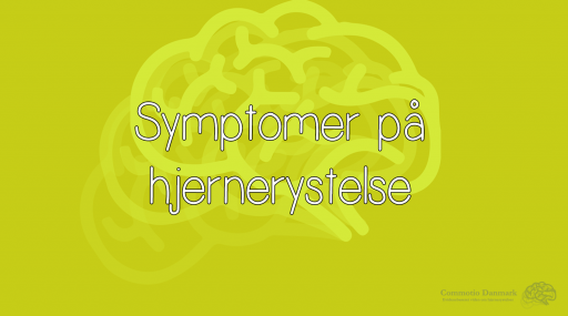 Symptomer på hjernerystelse