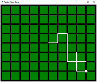 Random walks with Python Turtle Graphics