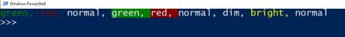 Python coloured text in console