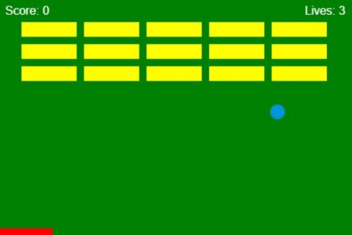 JavaScript Breakout Retro Game