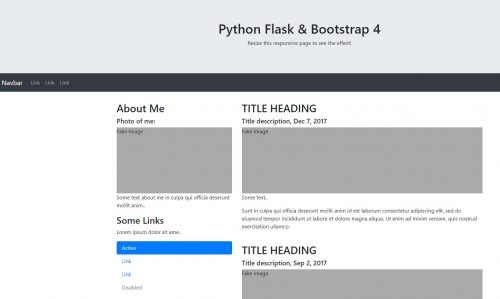 Bootstrap 4 for Python Flask