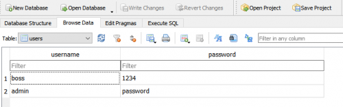 Browse data from User Login with Python and SQLite
