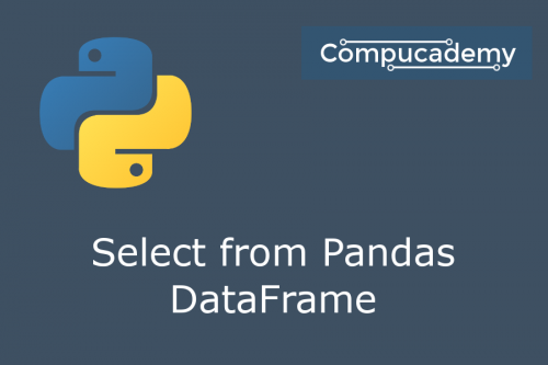 Python Data Science Select from Pandas DataFrame
