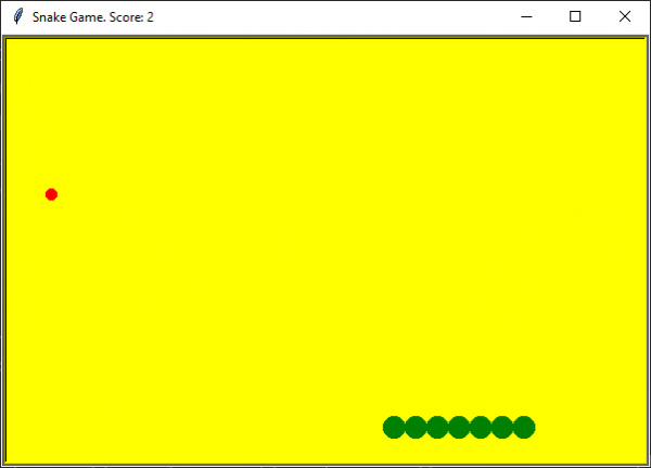 Python Classic Snake Game Yellow Background