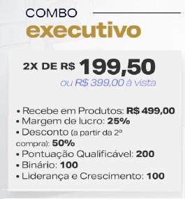 Combo Executivo Hinode de R$399,00.
