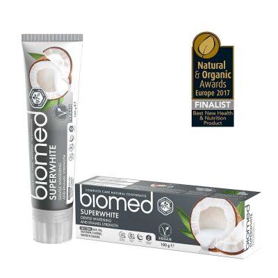 Biomed Superwhite tandkräm med hydroxyapatit
