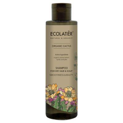 ekologiskt schampo för torrt hår med kaktus