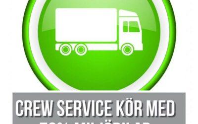 Crew Service miljövänliga budtransporter.?