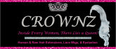 CROWNZ hair extensions, lace wigs, and lashes