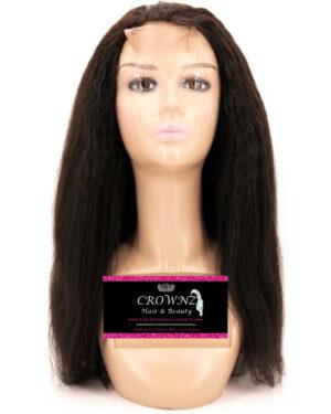 Kinky Straight Closure Wig