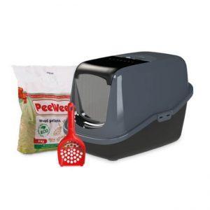 peewee-kattenbak-startpakket-ecohus-zwart