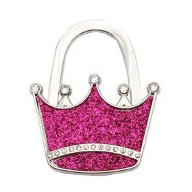 laukkukoukku pinkki kruunu