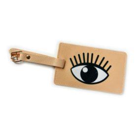 matkalaukun nimikyltti silmä