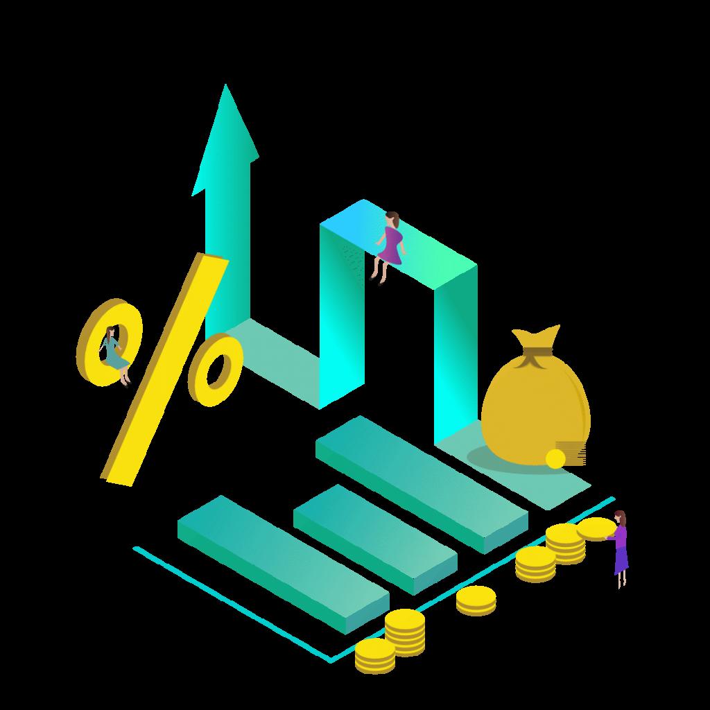 Illustration af budget statistik
