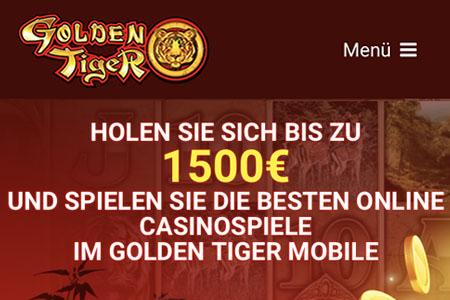Golden Tiger - ein großzügiges Gratis Bonus