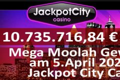 Gewinner am Mega Moolah vom 5. April 2020 im Jackpot City Casino