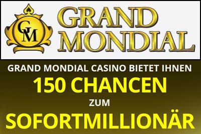 Grand Mondial mit 150 Freispielen für nur 10€