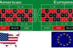 Amerikanisches Roulette und Europäisches Roulette