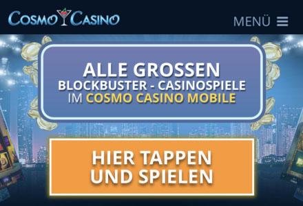Cosmo Casino - Von unseren Experten zum besten Casino ernannt