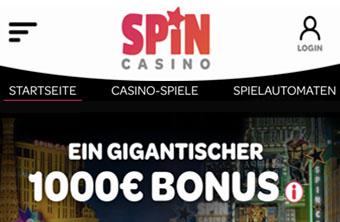 Spin Casino - Casino und Sportwetten Bonusse