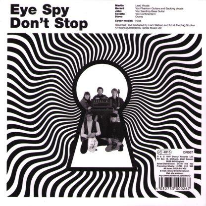 "THE DISTURBED - Eye Spy 7"" back"
