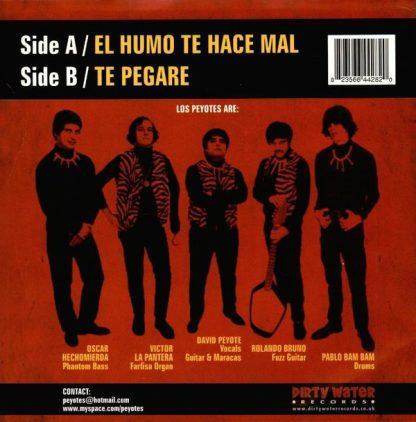 """LOS PEYOTES - El Humo Te Hace Mal 7"""" back"""