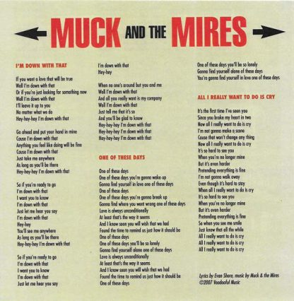 "MUCK AND THE MIRES - I'm Down With That 7"" insert"