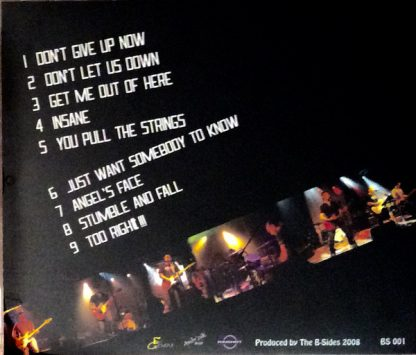 THE B-SIDES- Too Right!!! CD back cover