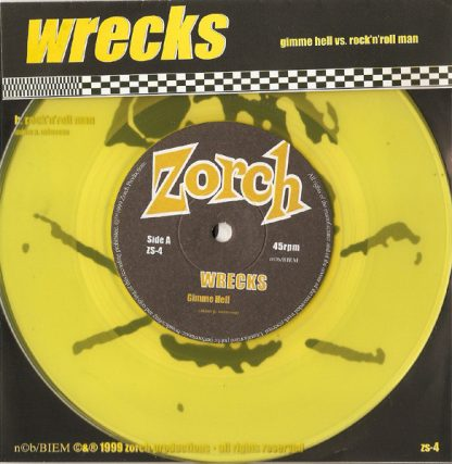 "WRECKS - Gimme Hell vs Rock'n'Roll Man 7"""