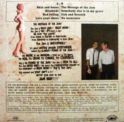 "The Jam Messengers Rob K and Uncle Butcher 10"" back cover"