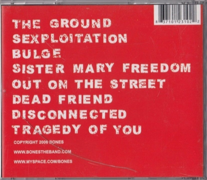 BONES - Disconnected CD back cover