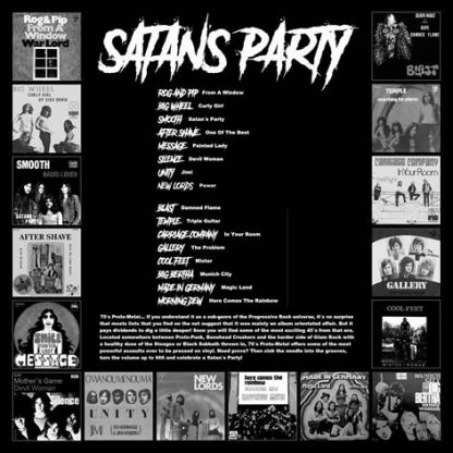 VA: SATAN'S PARTY 16 Slices of European Early 70s Proto Metal Madness LP back cover