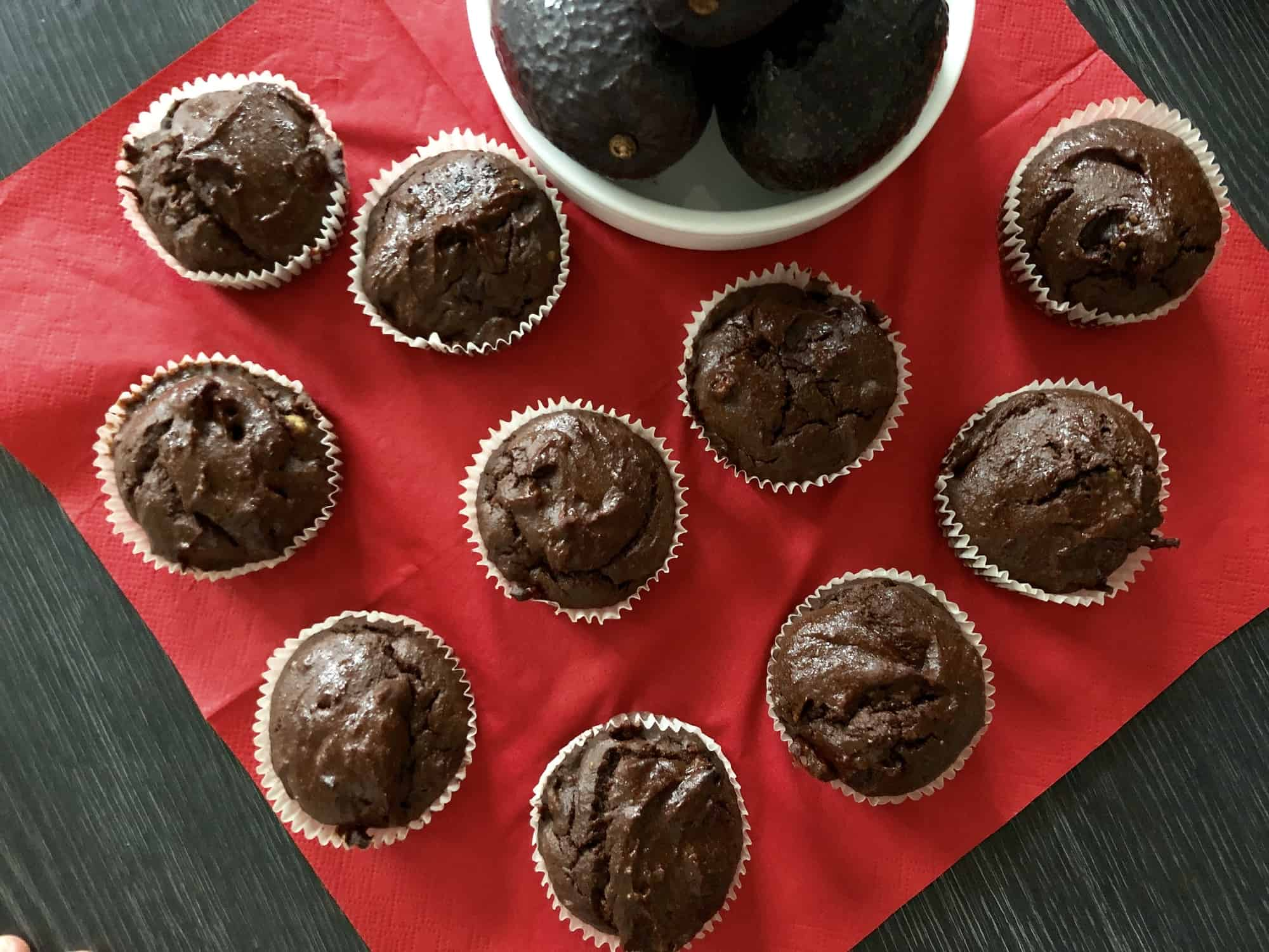 Avocado-Chocolade Cupcakes