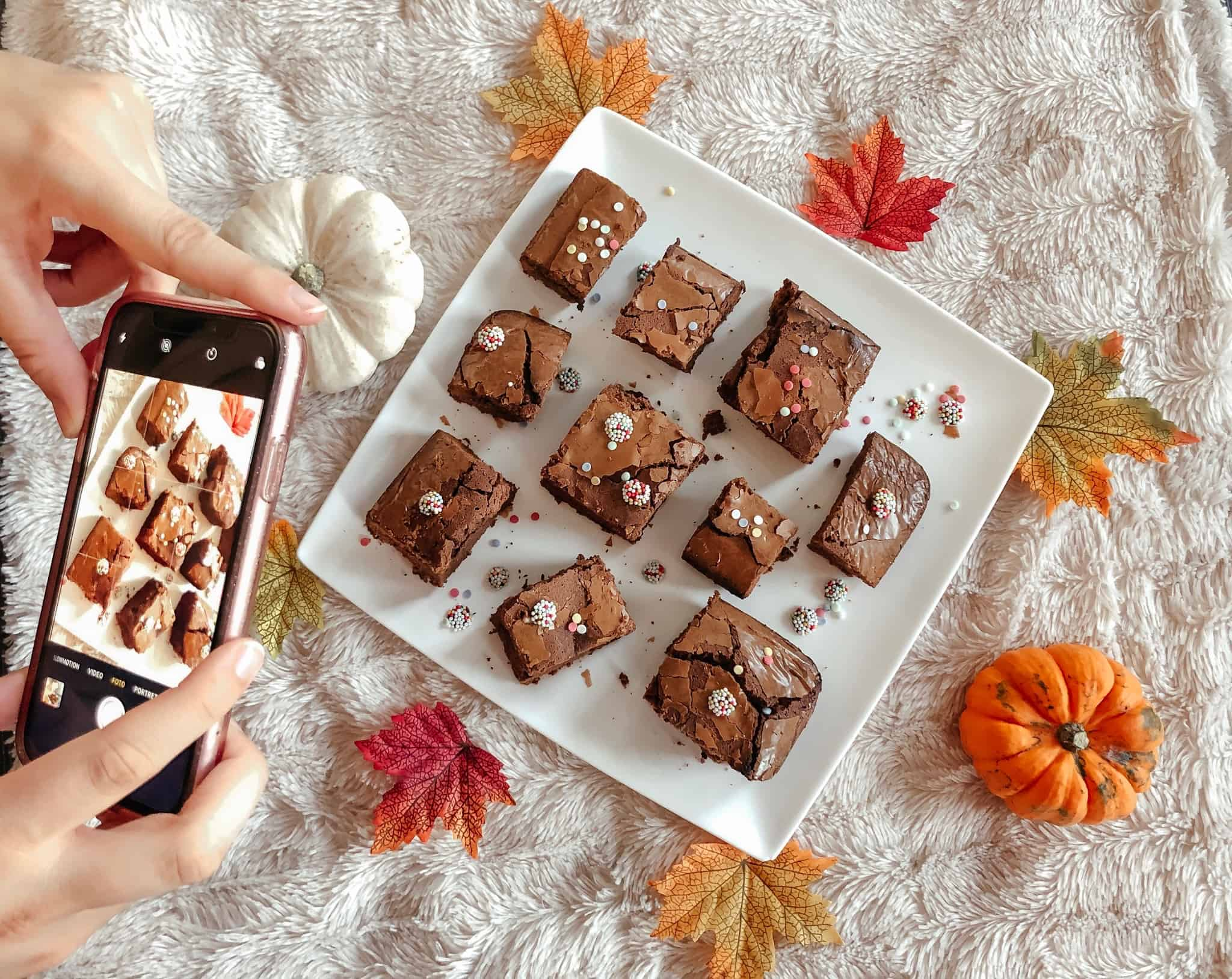 brownies with 3 kinds of sugar