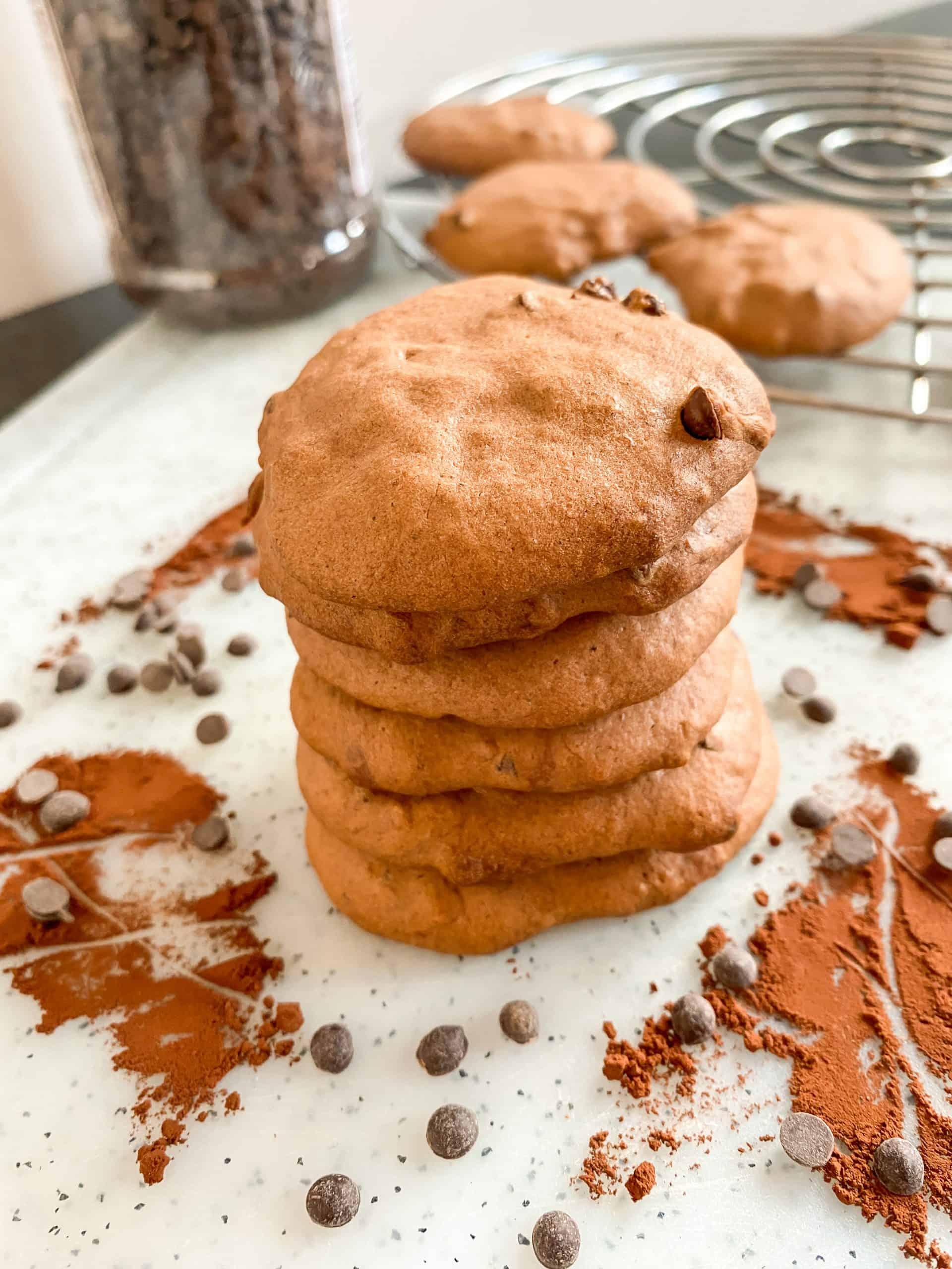 Chocolate-banana cookies