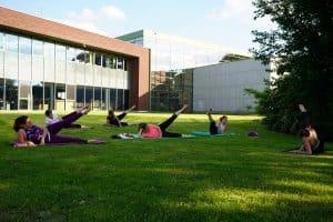 Outdoor POP Pilates lessen