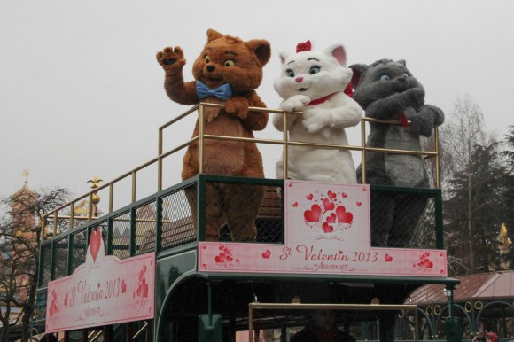 St Valentin 2013 in Disneyland Paris, Aristocats Toulouse, Marie & Berlioz