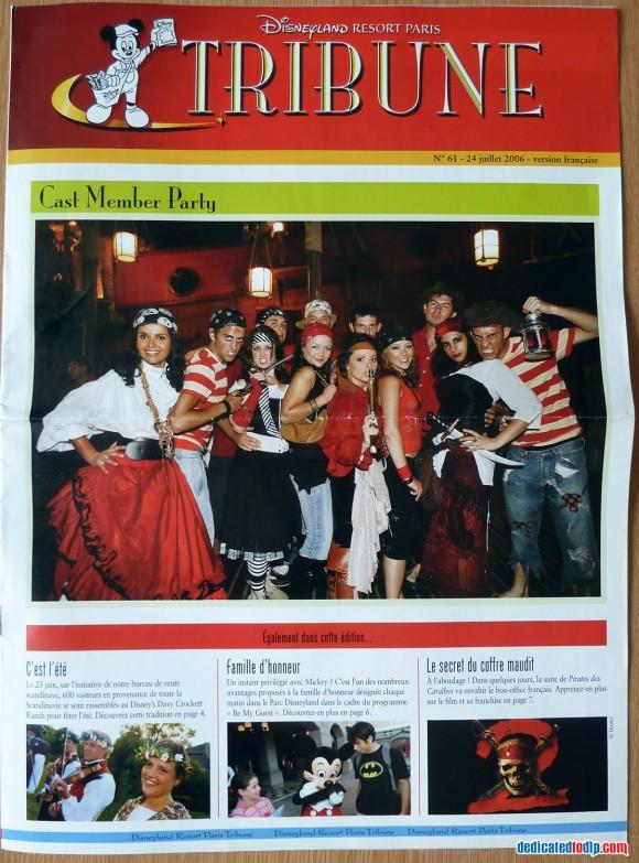Disneyland Resort Paris Tribune Front Cover