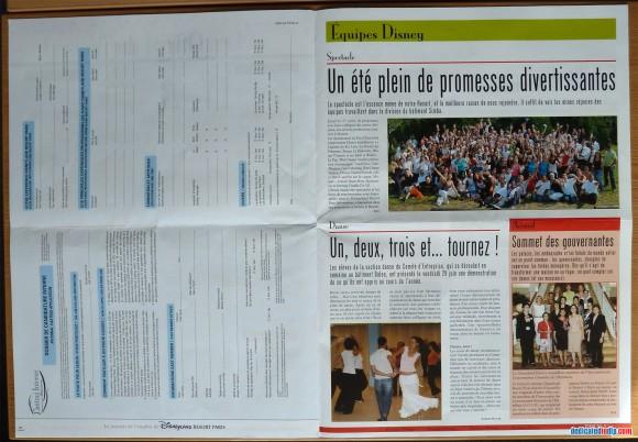 Disneyland Resort Paris Tribune Pages 8 & 9