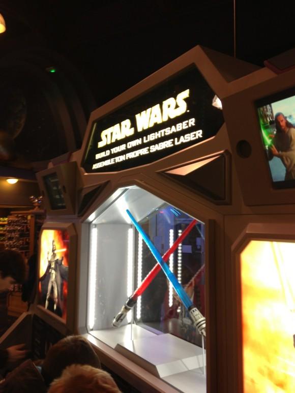 Star Wars Build Your Own Lightsaber in Disneyland Paris