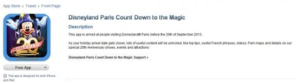 New Disney Paris App