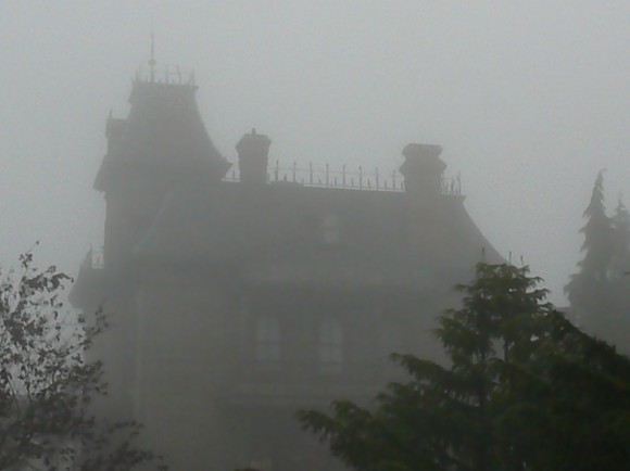 The Phantom Manor in a Foggy Disneyland Paris