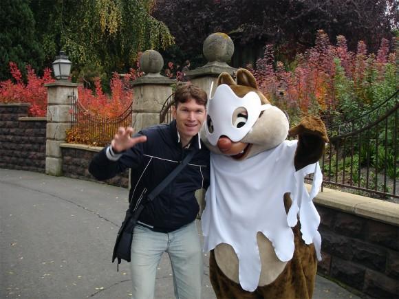 Matt Bateman in Disneyland Paris in 2009